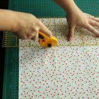 Baby-Quilt-Tutorial (3): Zweimal messen, einmal schneiden.