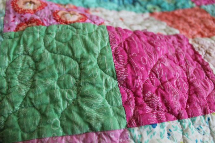 Wee Wander Quilt quilting #4