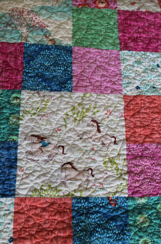 Wee Wander Quilt quilting #1