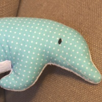 "Kuschelkissen Delfin ""Flipper"" eigenes Schnittmuster"