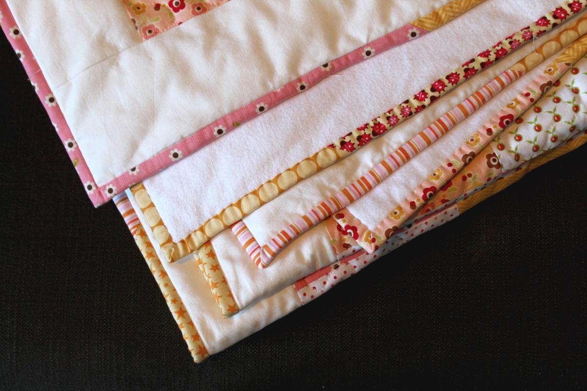 "Anleitung ""Scrappy Binding"" der Baby-Quilt ist fertig!"