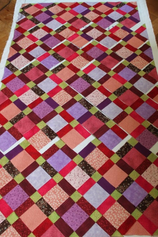 disappearing nine quilt layout#1