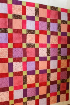 disappearing nine quilt layout#2