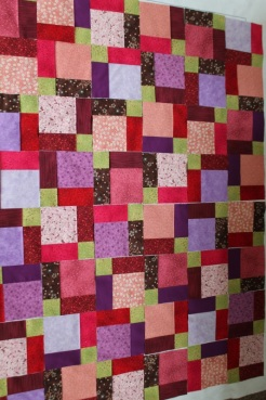 disappearing nine quilt layout#3