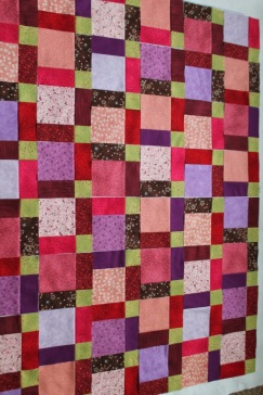 disappearing nine quilt layout#5